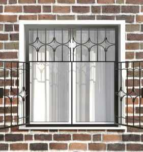 Фото 18 - Распашная решетка на окно РР-0012.