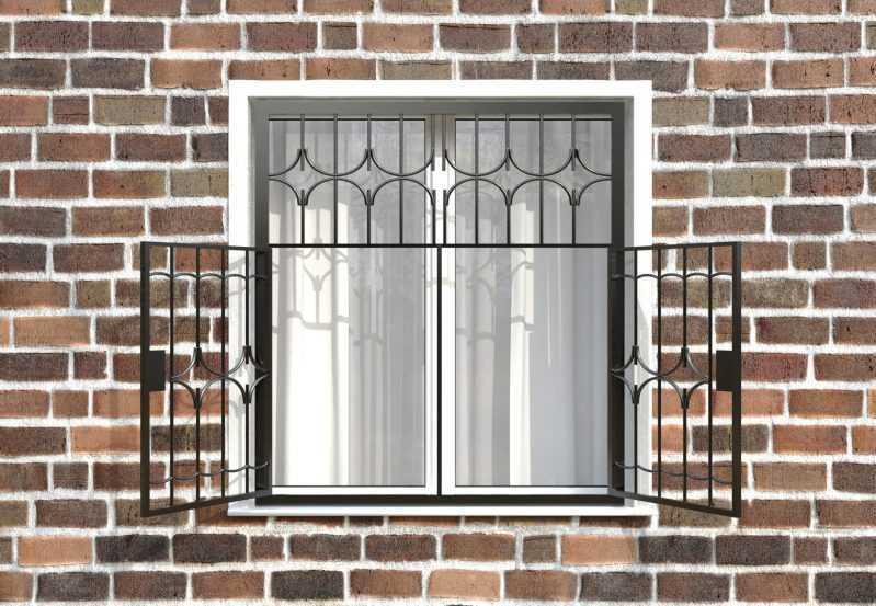 Фото 2 - Распашная решетка на окно РР-0012.