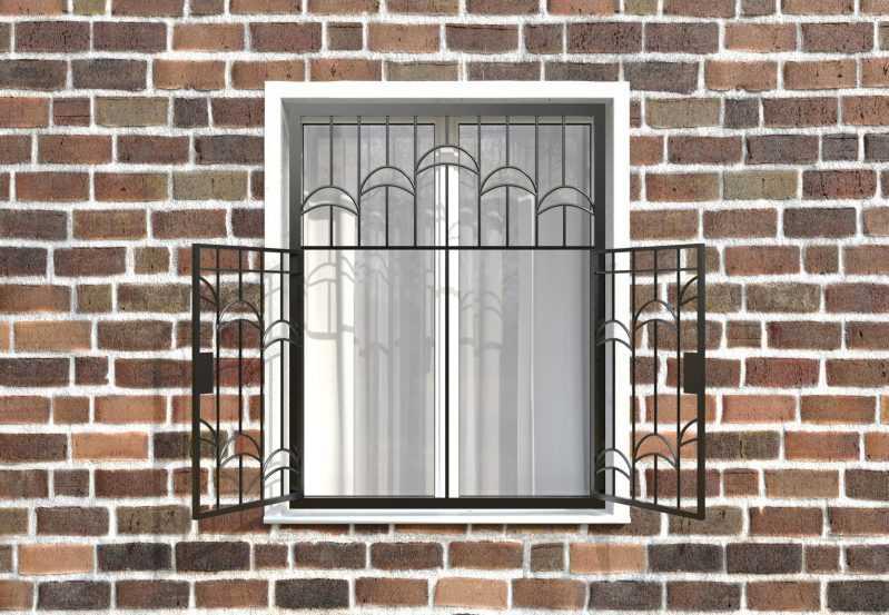 Фото 2 - Распашная решетка на окно РР-0013.