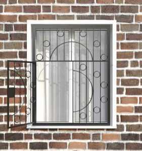 Фото 28 - Распашная решетка на окно РР-0014.