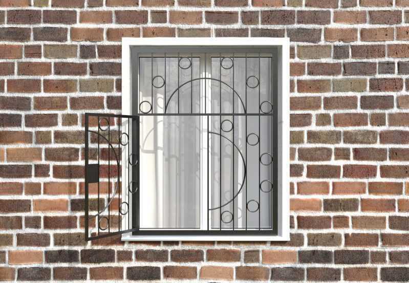 Фото 2 - Распашная решетка на окно РР-0014.