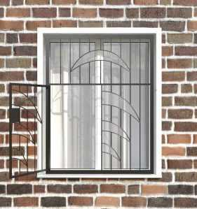 Фото 10 - Распашная решетка на окно РР-0015.