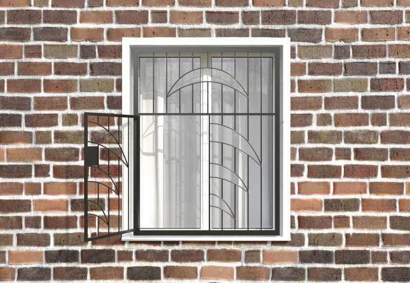 Фото 2 - Распашная решетка на окно РР-0015.