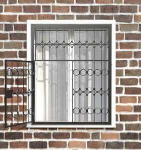 Фото 10 - Распашная решетка на окно РР-0016.