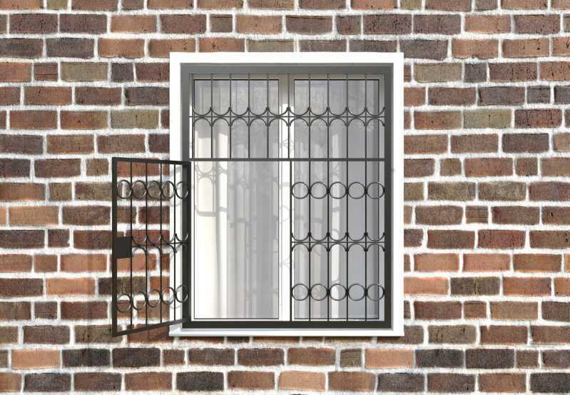 Фото 2 - Распашная решетка на окно РР-0016.