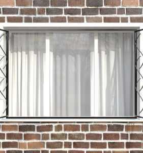 Фото 10 - Распашная решетка на окно РР-0017.
