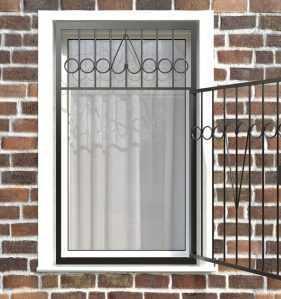 Фото 6 - Распашная решетка на окно РР-0008.