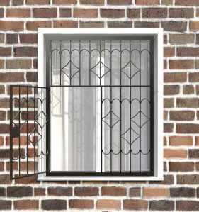 Фото 10 - Распашная решетка на окно РР-0007.