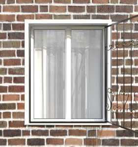 Фото 62 - Распашная решетка на окно РР-0020.