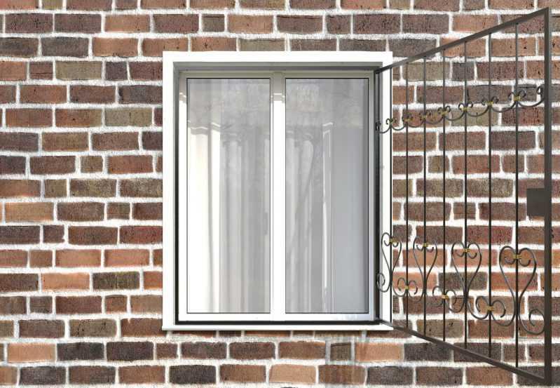 Фото 2 - Распашная решетка на окно РР-0020.