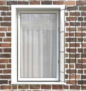 Фото 8 - Распашная решетка на окно РР-0001.