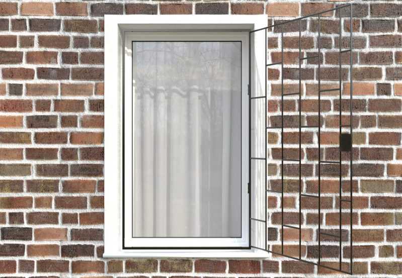 Фото 2 - Распашная решетка на окно РР-0001.