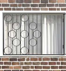Фото 16 - Распашная решетка на окно РР-0002.