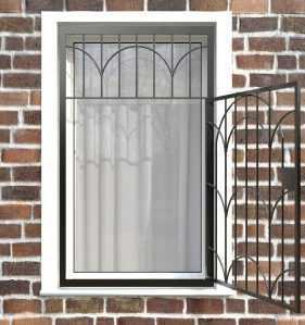Фото 12 - Распашная решетка на окно РР-0033.