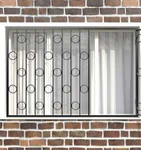 Фото 6 - Распашная решетка на окно РР-0003.