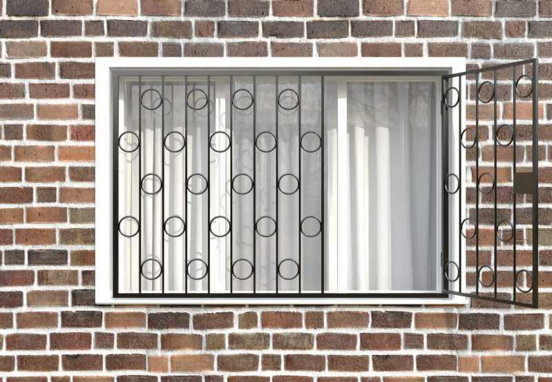 Фото 2 - Распашная решетка на окно РР-0003.