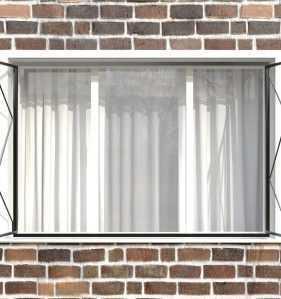 Фото 16 - Распашная решетка на окно РР-0006.