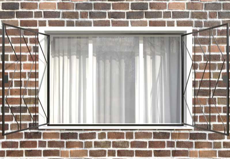 Фото 2 - Распашная решетка на окно РР-0006.