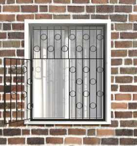 Фото 22 - Распашная решетка на окно РР-0004.