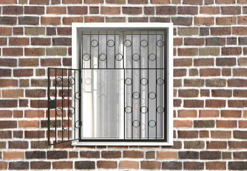 Фото 2 - Распашная решетка на окно РР-0004.
