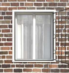 Фото 16 - Распашная решетка на окно РР-0005.