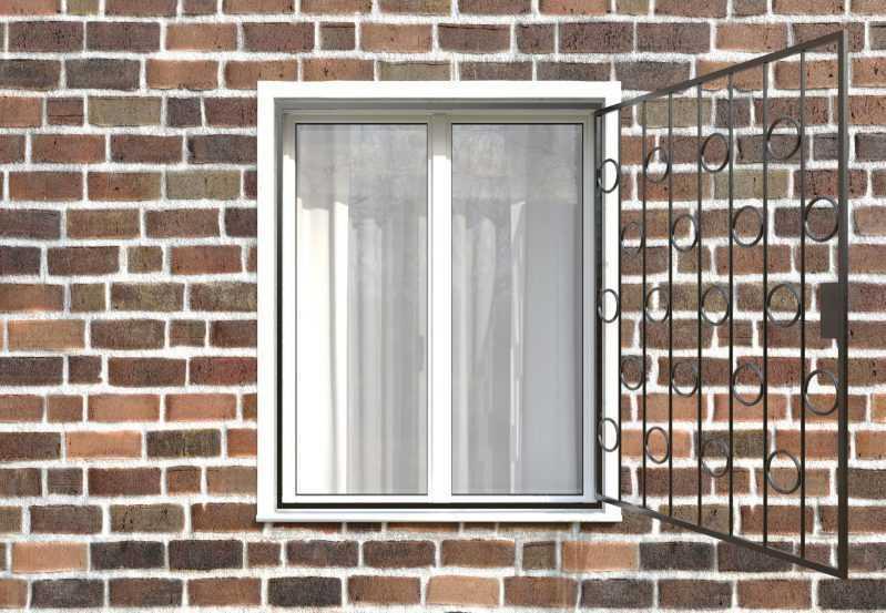 Фото 2 - Распашная решетка на окно РР-0005.