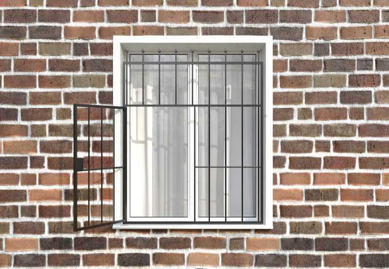 Фото 2 - Распашная решетка на окно РР-0018.