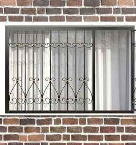 Фото 82 - Распашная решетка на окно РР-0042.