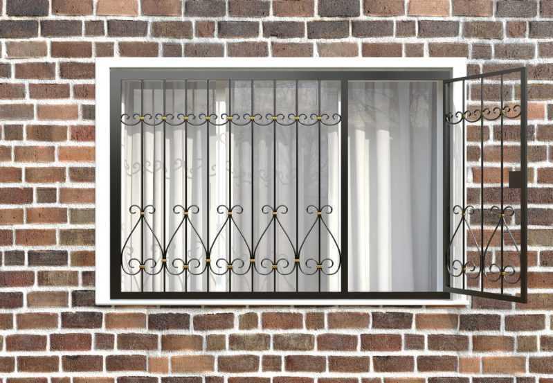 Фото 2 - Распашная решетка на окно РР-0042.