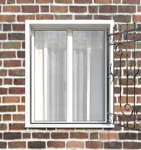Фото 84 - Распашная решетка на окно РР-0041.