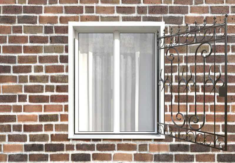 Фото 2 - Распашная решетка на окно РР-0041.