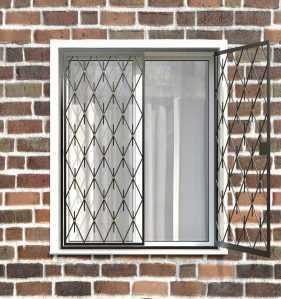 Фото 78 - Распашная решетка на окно РР-0039.