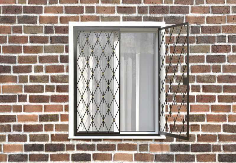 Фото 2 - Распашная решетка на окно РР-0039.