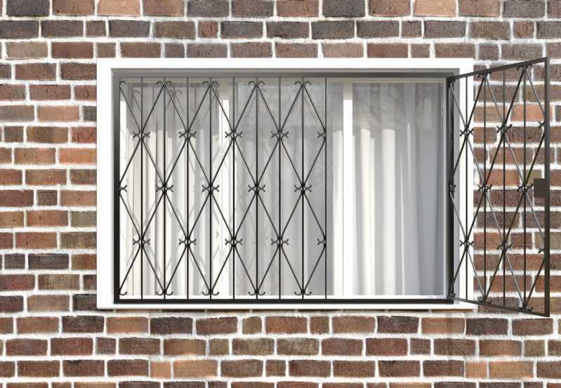 Фото 2 - Распашная решетка на окно РР-0019.