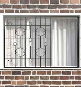 Фото 68 - Распашная решетка на окно РР-0037.