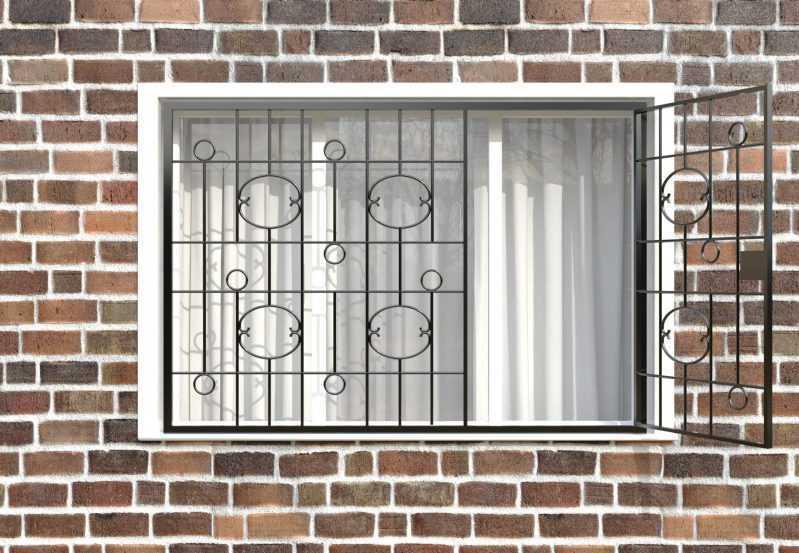 Фото 2 - Распашная решетка на окно РР-0037.