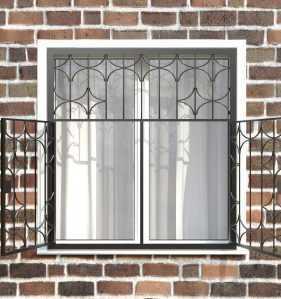 Фото 26 - Распашная решетка на окно РР-0031.