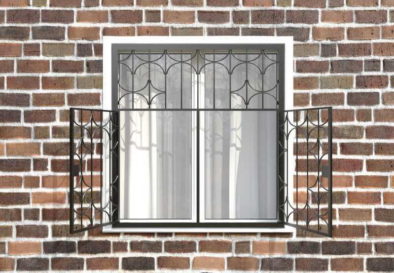 Фото 2 - Распашная решетка на окно РР-0031.