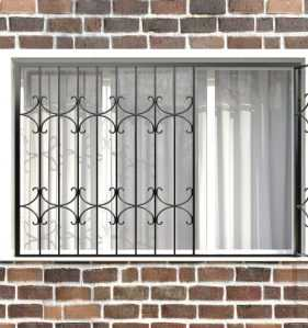 Фото 70 - Распашная решетка на окно РР-0036.