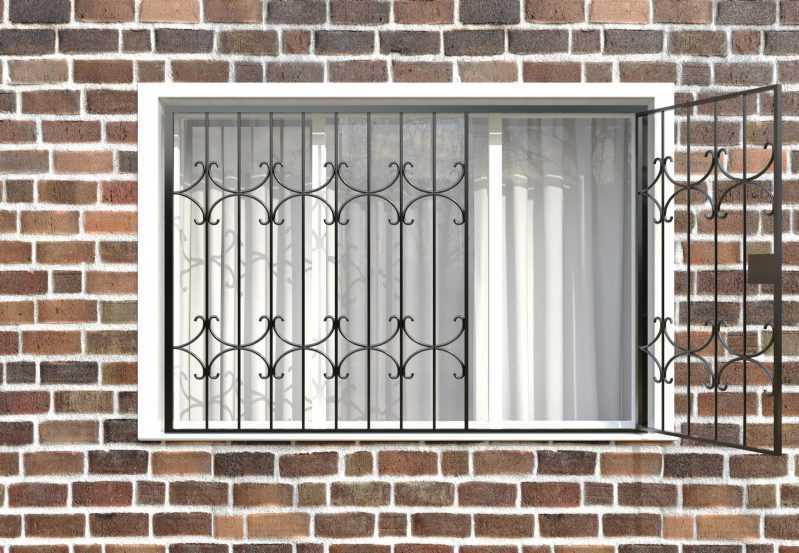 Фото 2 - Распашная решетка на окно РР-0036.