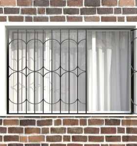 Фото 72 - Распашная решетка на окно РР-0035.