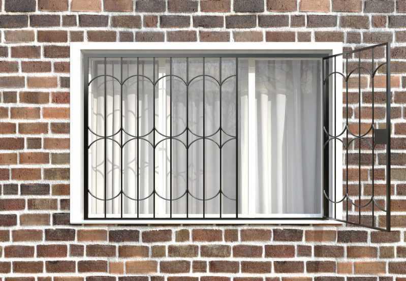 Фото 2 - Распашная решетка на окно РР-0035.