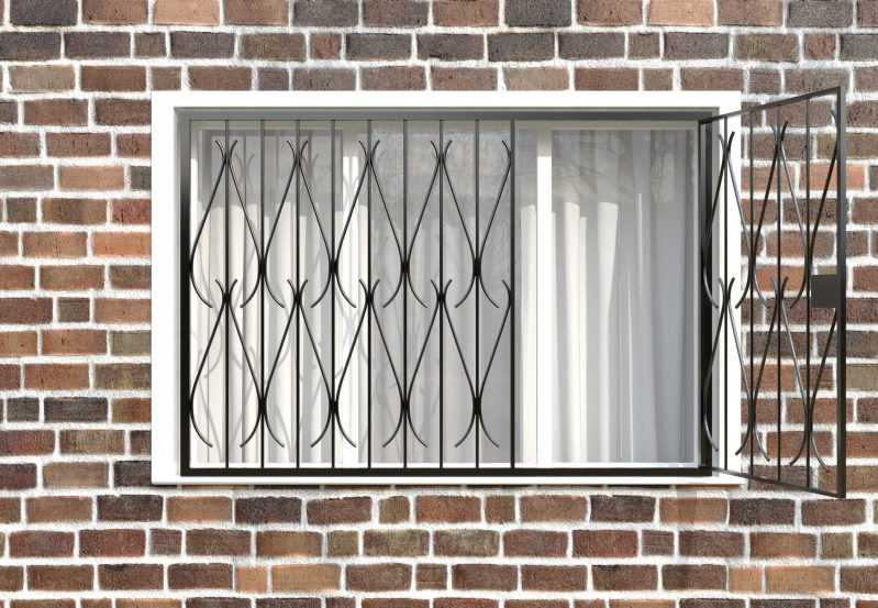 Фото 2 - Распашная решетка на окно РР-0034.
