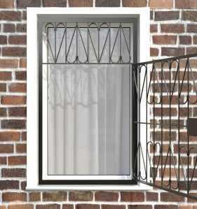 Фото 28 - Распашная решетка на окно РР-0032.