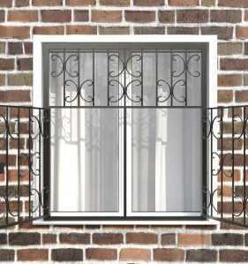 Фото 18 - Распашная решетка на окно РР-0030.