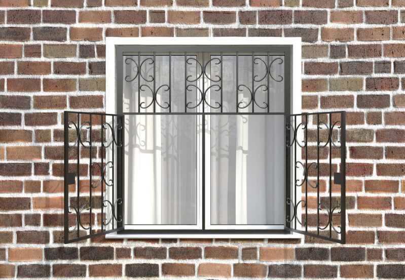 Фото 2 - Распашная решетка на окно РР-0030.