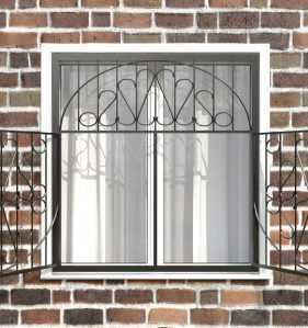 Фото 12 - Распашная решетка на окно РР-0029.