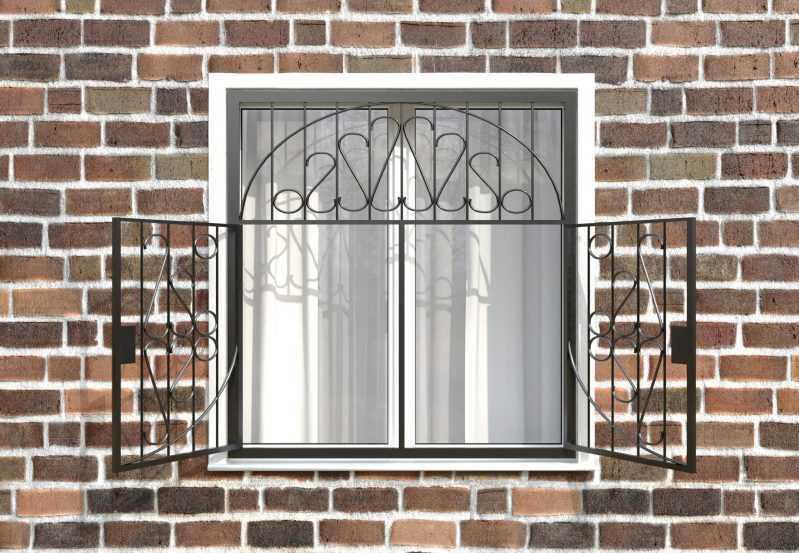 Фото 2 - Распашная решетка на окно РР-0029.