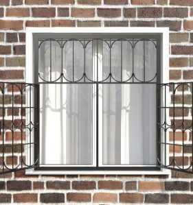 Фото 18 - Распашная решетка на окно РР-0028.