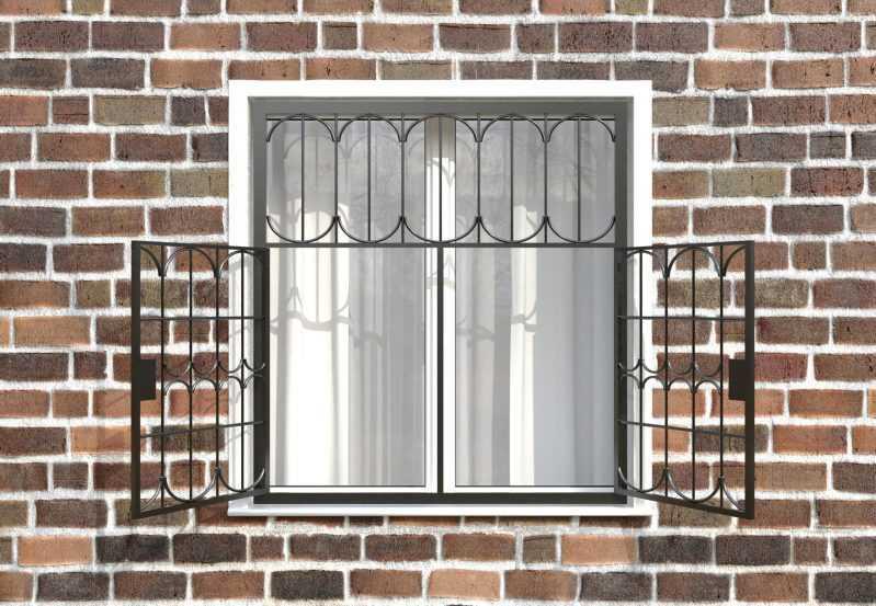 Фото 2 - Распашная решетка на окно РР-0028.